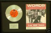 "BEE GEES - 7"" single  Platinum Disc & songsheet -WORDS"